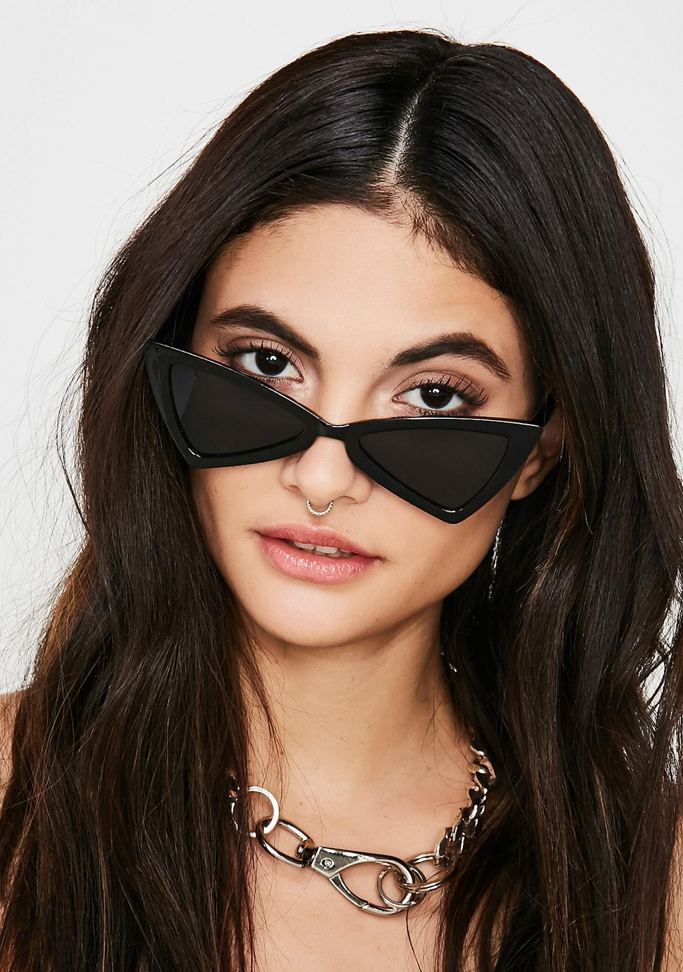 Mean Read Sunglasses (With images) Black cat eye