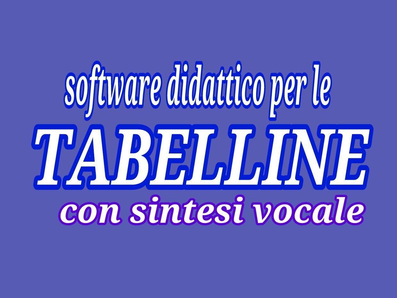 Esercizi Tabelline Con Sintesi Vocale