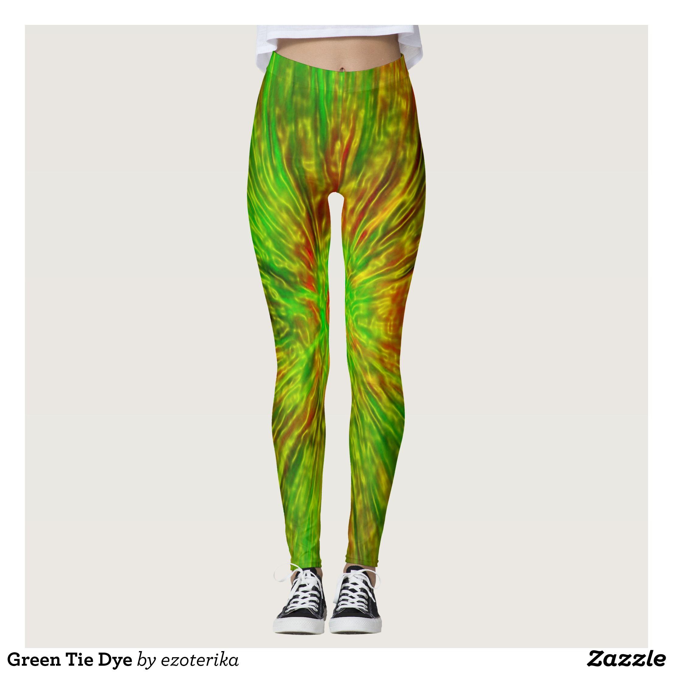 White Leggings with Yellow Women/'s Long Tie Dye Leggings Black and Green Tie Dye CottonSpandex Yoga Pants Pittsburgh Fan Pants