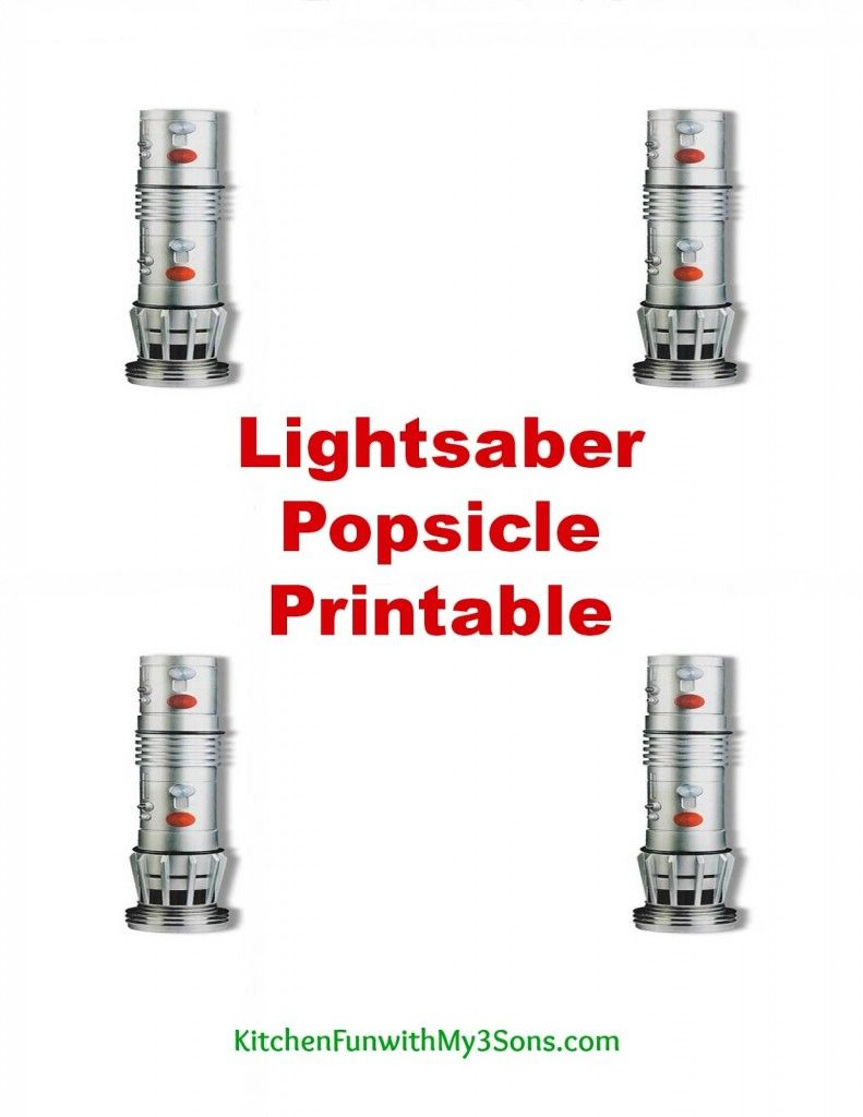 image regarding Lightsaber Printable titled Popsicle Lightsabers which includes a No cost Printableperfect