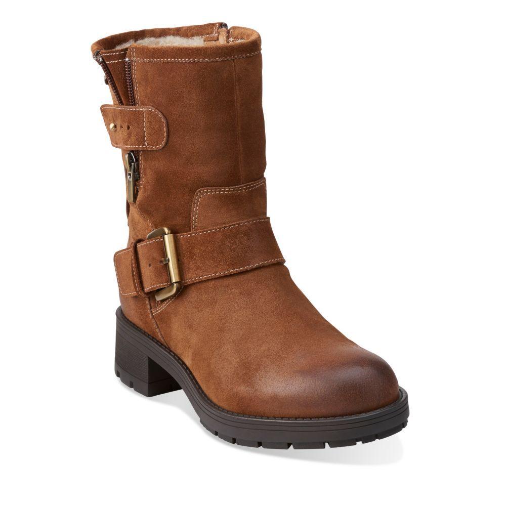 080f31820 Reunite Go GTX Mid Brown Suede - Clarks Womens Shoes - Womens Heels and  Flats - Clarks - Clarks® Shoes 200