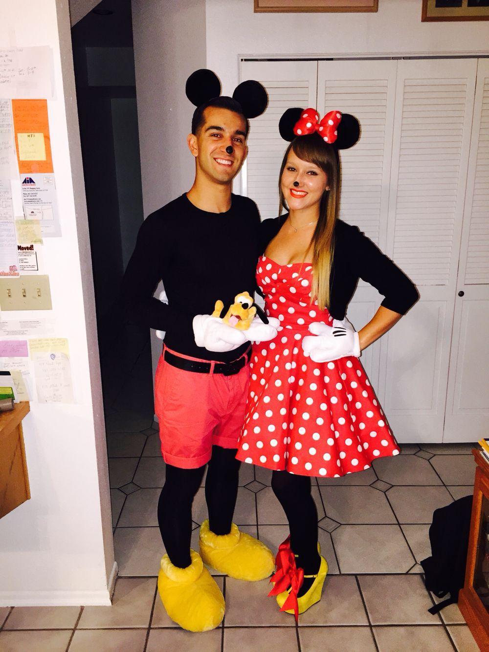 Homemade Minnie & Mickey halloween costumes. 2014. #halloweencostumesmen |  Disfraces halloween caseros, Traje de mickey, Disfraz mickey
