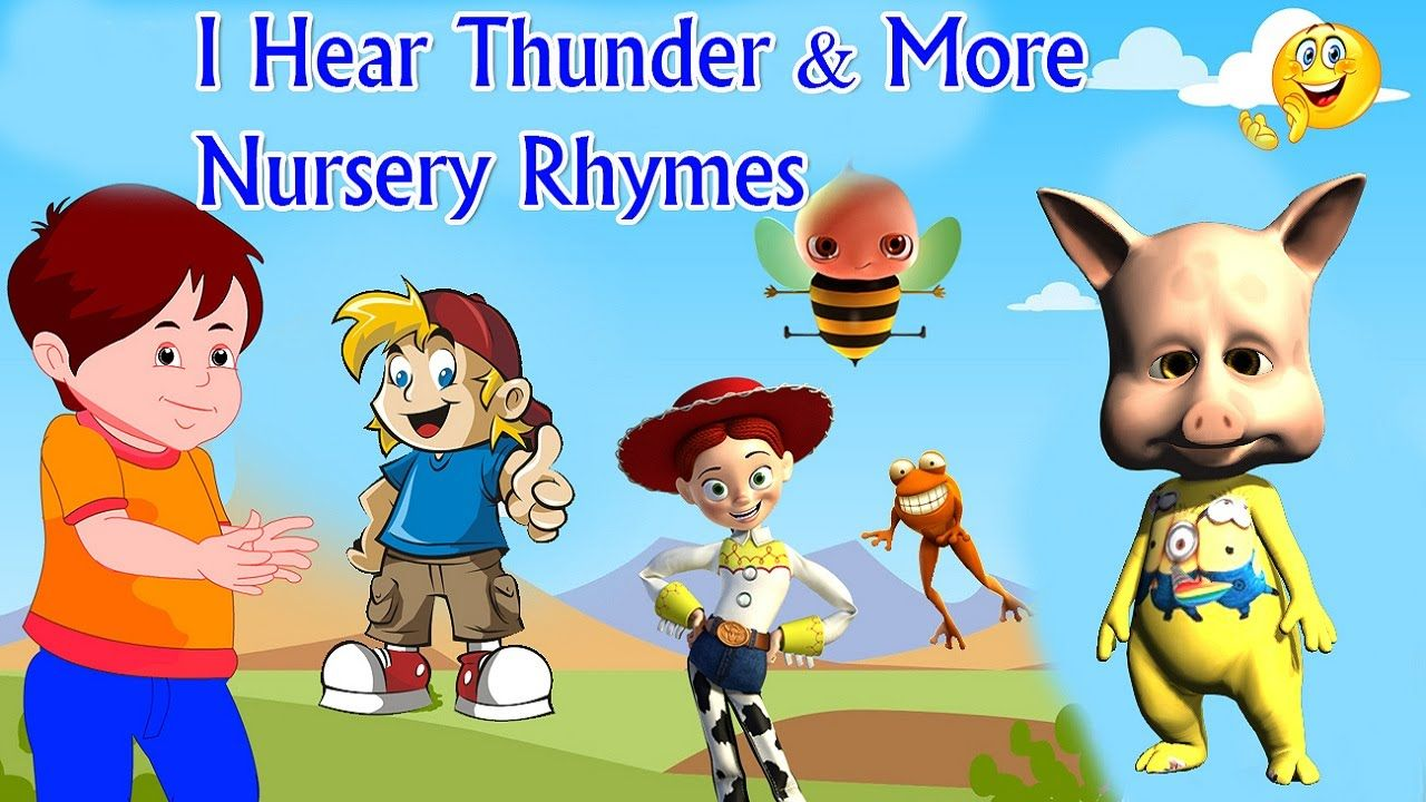 Cartoons For Children I Hear Thunder More Nursery Rhymes Movies Fo
