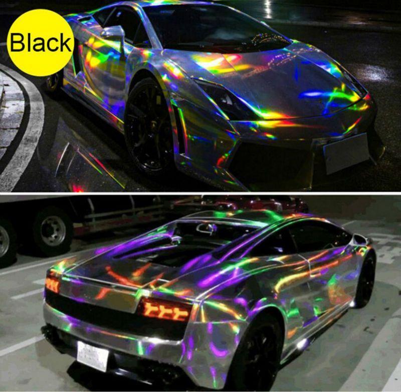 Car Iridescent Holographic Laser Chrome Chameleon Vehicle