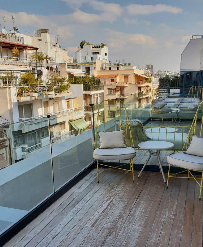 Private Terrace In The Metropolitan Loft Suite At COCO-MAT