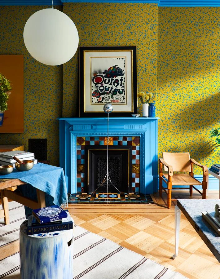Corner Deli Yellow Blue In 2020 Removable Wallpaper Vinyl Wallpaper Baby Wall Decor