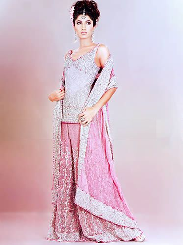 BW8816 Light Lavender & Baby Pink Gharara Pakistani Designer Dresses in Manhattan Island, New York Bridal Wear