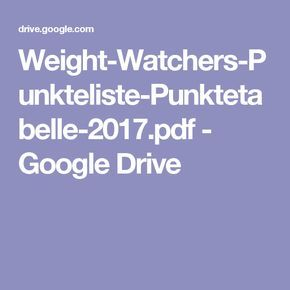 weight watchers punkteliste punktetabelle. Black Bedroom Furniture Sets. Home Design Ideas