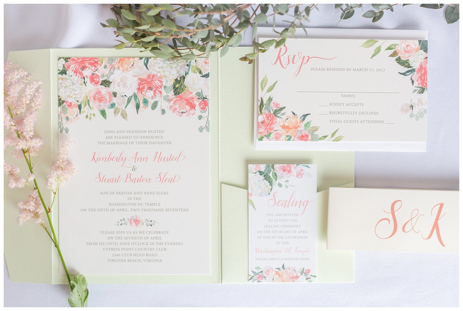 Blush And Sage Cypress Point Country Club Virginia Beach Wedding