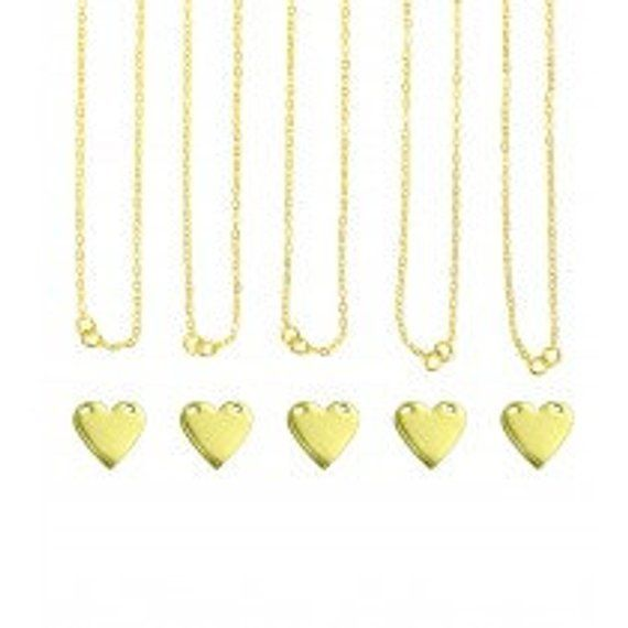 ImpressArt Personal Impressions Gold Plated Heart Hand ...