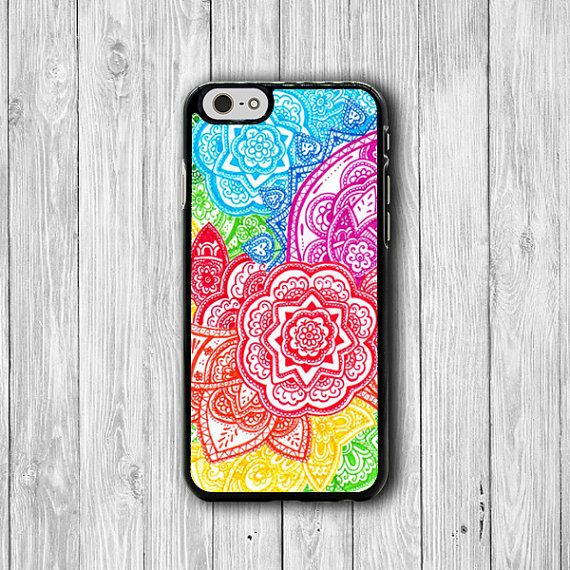 colorful drawing bali flower art iphone case iphone 6 case iphone 6 plus iphone 5 5s iphone 4 4s floral artist phone cover personal