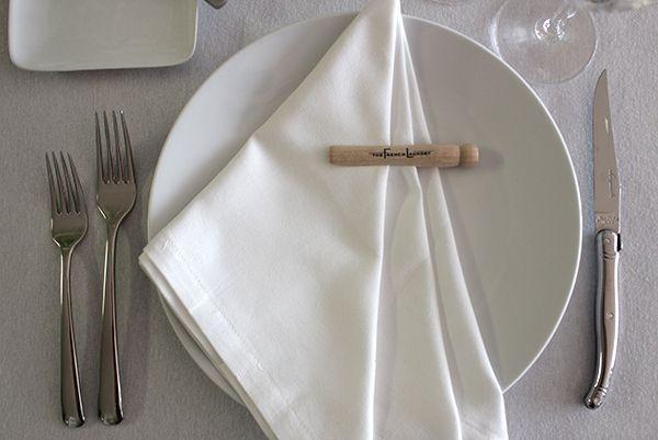 French Laundry Napkin Treatment Cloth Napkin Folding, Napkin Ideas, Cutlery  Holder, Napkin Rings