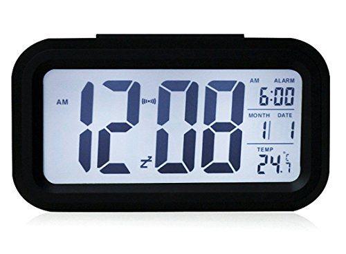Kidsu0027 Room Clocks   Smartech LED Morning Alarm Clock Smart Silent Backbit Digital  Bedroom Alarm