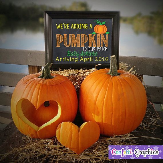 Were adding a Pumpkin to our patch Fall by ConfettiGraphics – Fall Birth Announcements