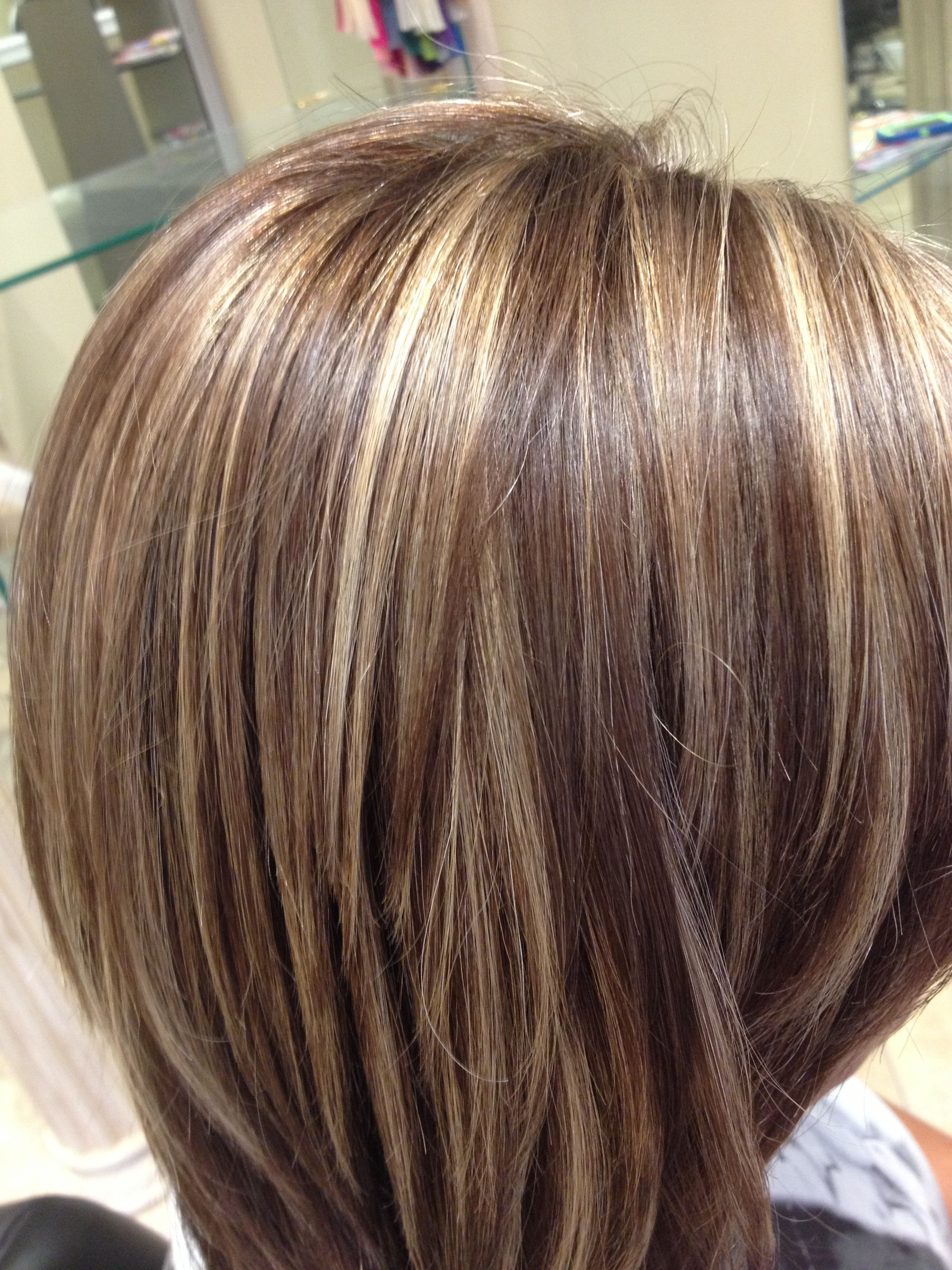 Highlights and an all over color Blended perfectly Salon Pure