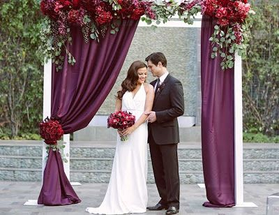 Plum Wedding Backdrop - See more breathtaking plum wedding ideas ...