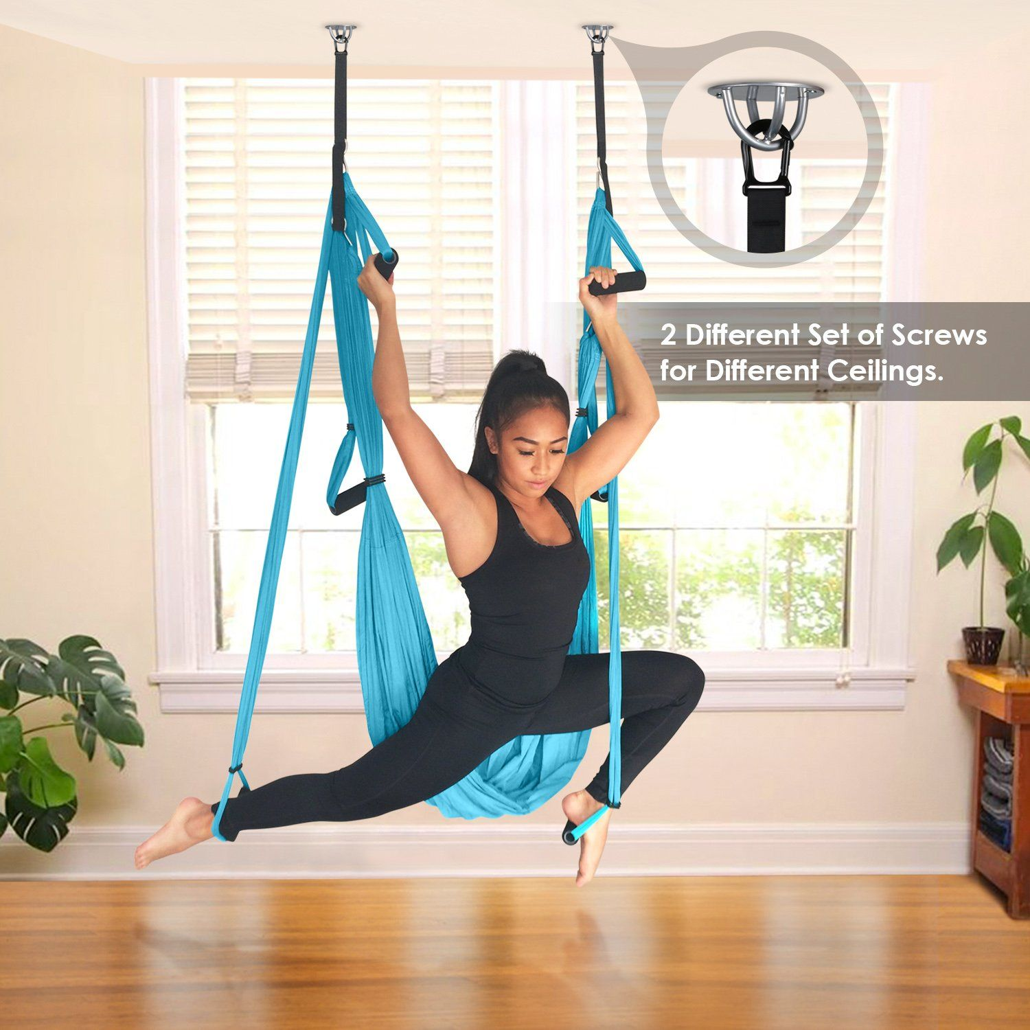 Intey Aerial Yoga Flying Yoga Swing Yoga Hammock Trapeze Sling Inversion Tool For Gym Home Fitness Check This Awe Yoga Swing Aerial Yoga Yoga Swing Exercises