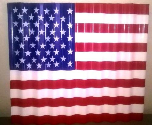 Large Size American Flag Painted On Corrugated Iron 69cm X 60cm Bidorbuy Co Za American Flag Painting Flag Painting Framed Flag
