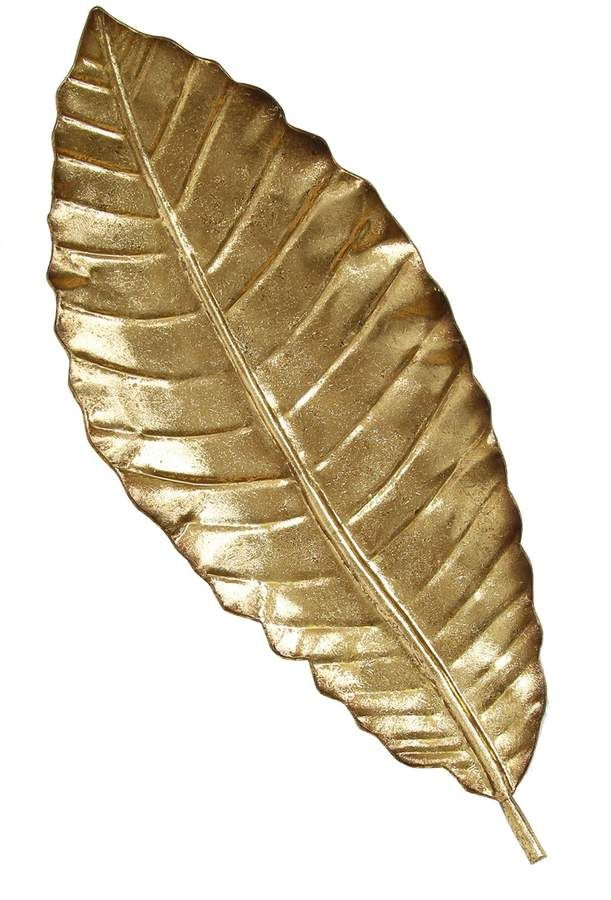 Stratton Home | Gold Elegant Leaf Wall Decor | Hau