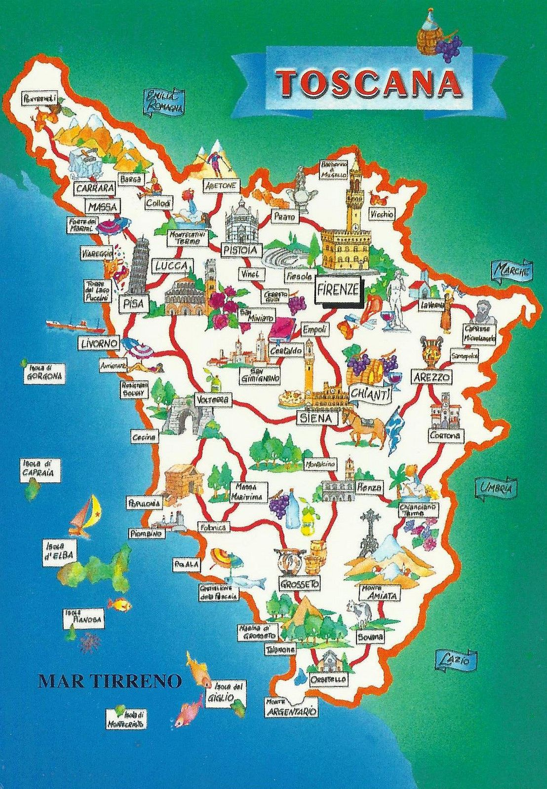 Toscana Map In 2020 Toscana Italy Map Of Tuscany Italy Tuscany Map