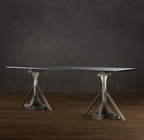Review Industrial Assembly Line Dining Table All Rectangular Tables Beautiful - Simple Elegant restoration hardware coffee table