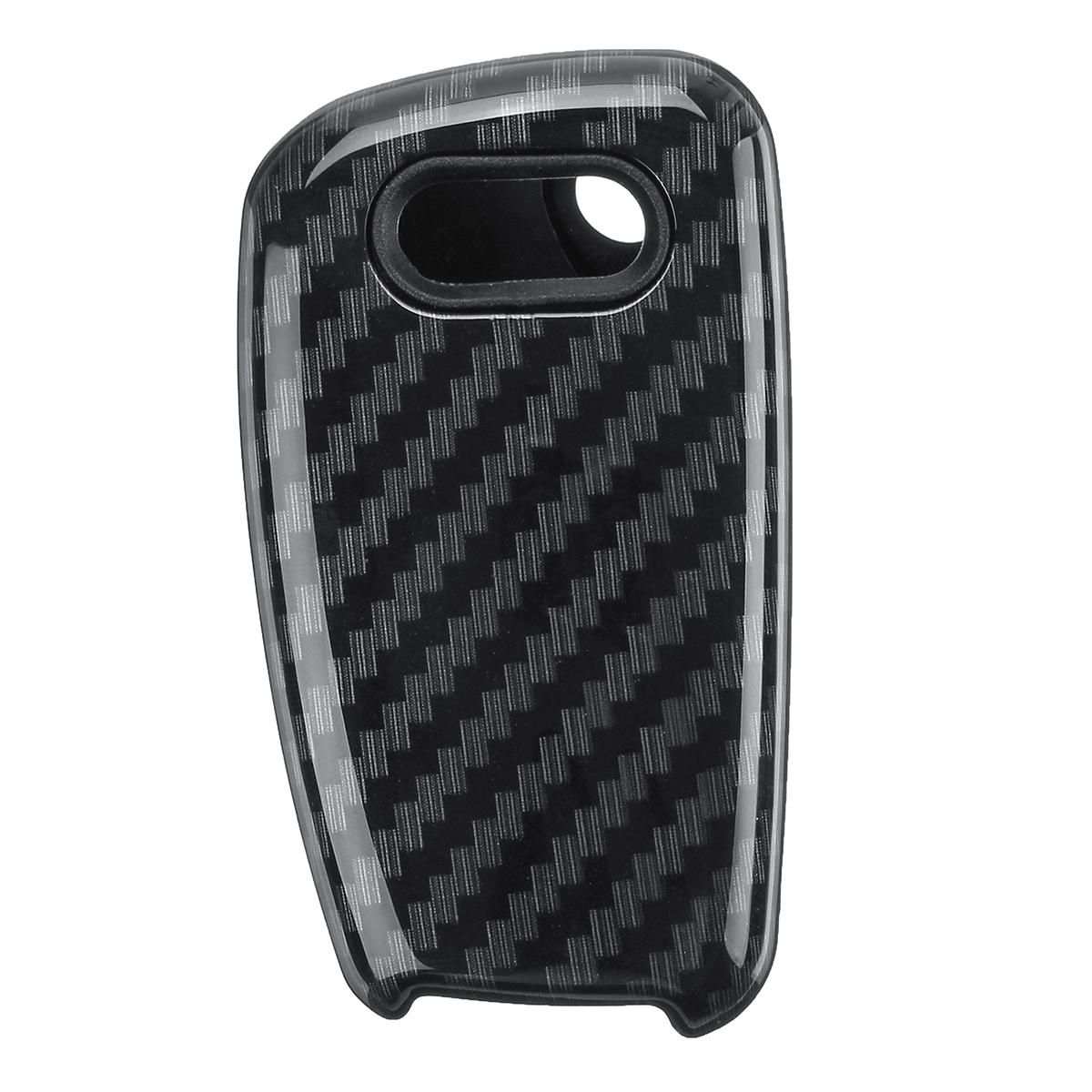 3 buttons carbon fiber color remote key case fob for audi