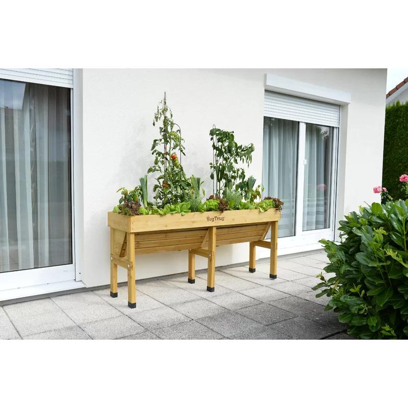 WallHugger Bed Wood Raised Garden in 2020 Raised garden