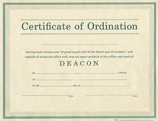 photograph about Printable Ordination Certificate named Certificates - Ordination for Deacon - Broadman property