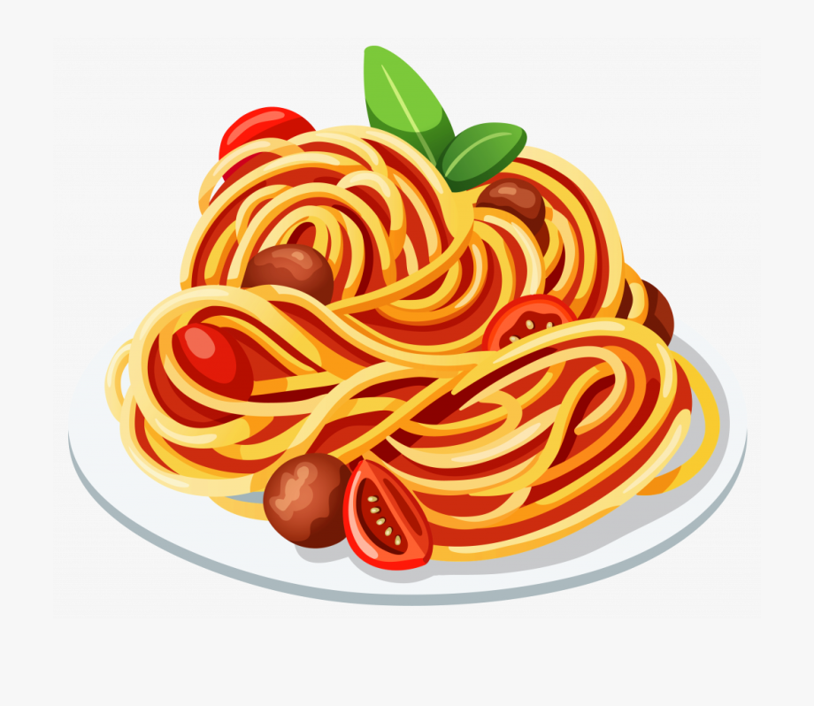 Spaghetti Clipart Linguine Watercolor Food Food Clipart Food Drawing