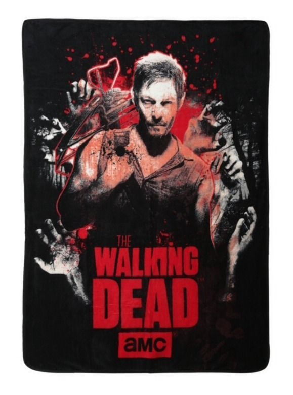Walking Dead Throw Blankets Delectable Walking Dead Daryl Dixon Fleece Throw Plush Blanket New With Tags Inspiration