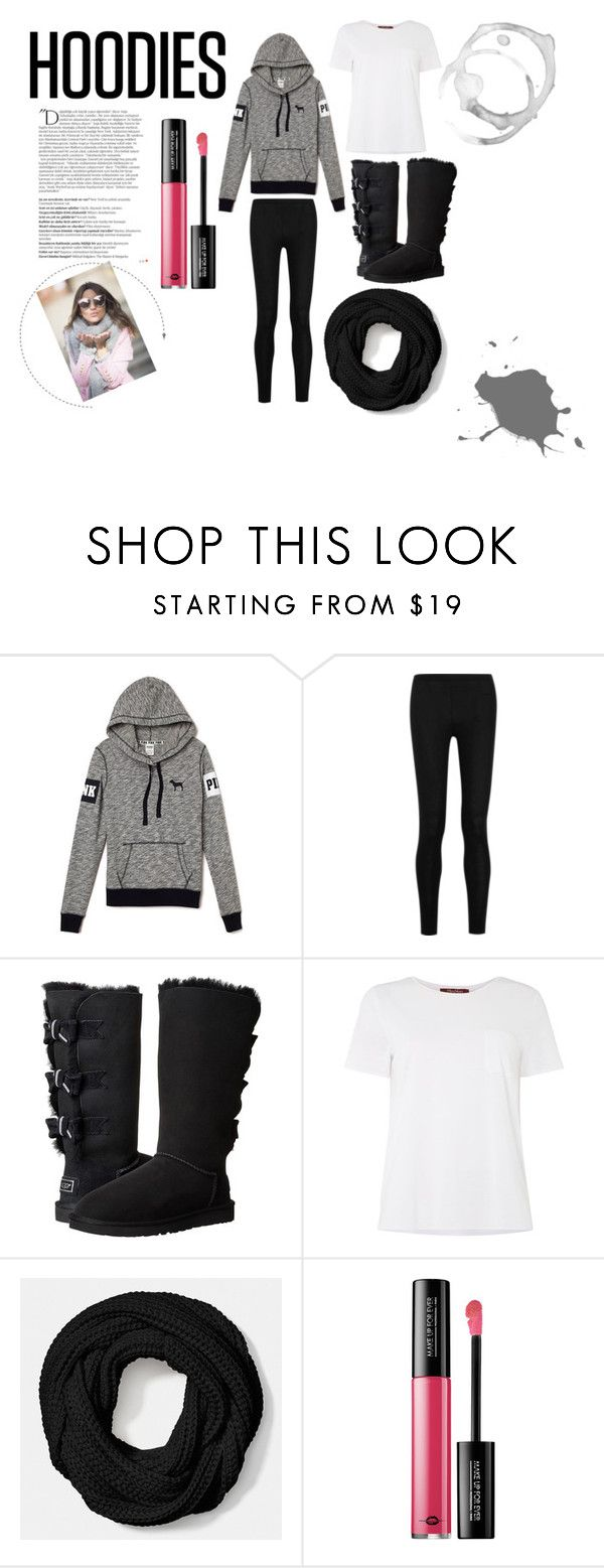 """Trend: Hoodies"" by ry08 ❤ liked on Polyvore featuring Donna Karan, UGG Australia, MaxMara, Coach, MAKE UP FOR EVER, Balmain, women's clothing, women's fashion, women and female"
