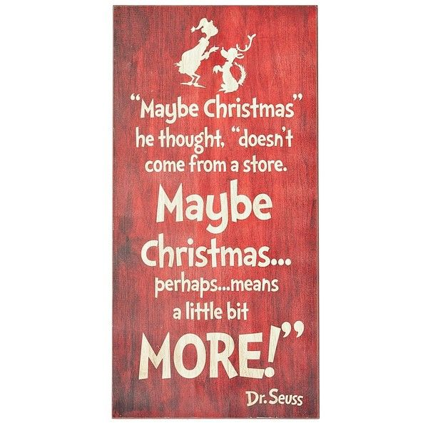 Dr. Seuss Grinch Christmas Wall Plaque ($25) ❤ Liked On Polyvore Featuring  Home