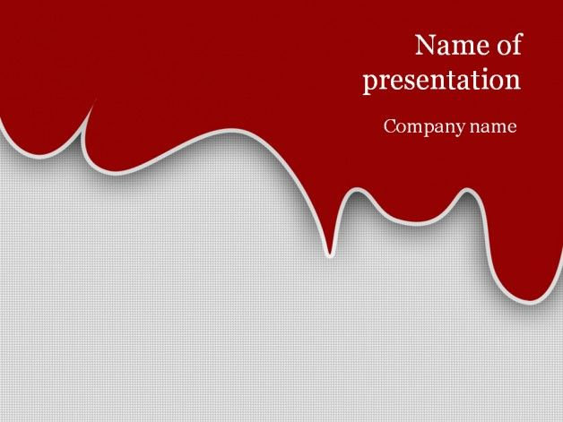 Red Blood Powerpoint Template Pinterest