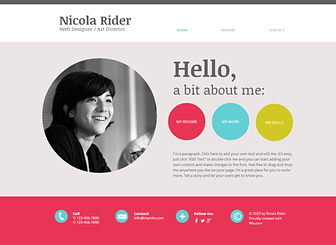 Marvelous 15 Best Free Online Resume/CV Website Templates And Themes Pertaining To Resume Website Template