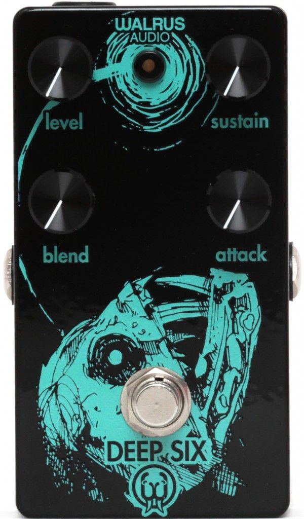 Walrus Audio Deep Six Anglerfish Compressor Pedal This Artwork Is A Limited Run But I Just Love The Way They Ve Incorporated The Led Into The Desi Guitarras