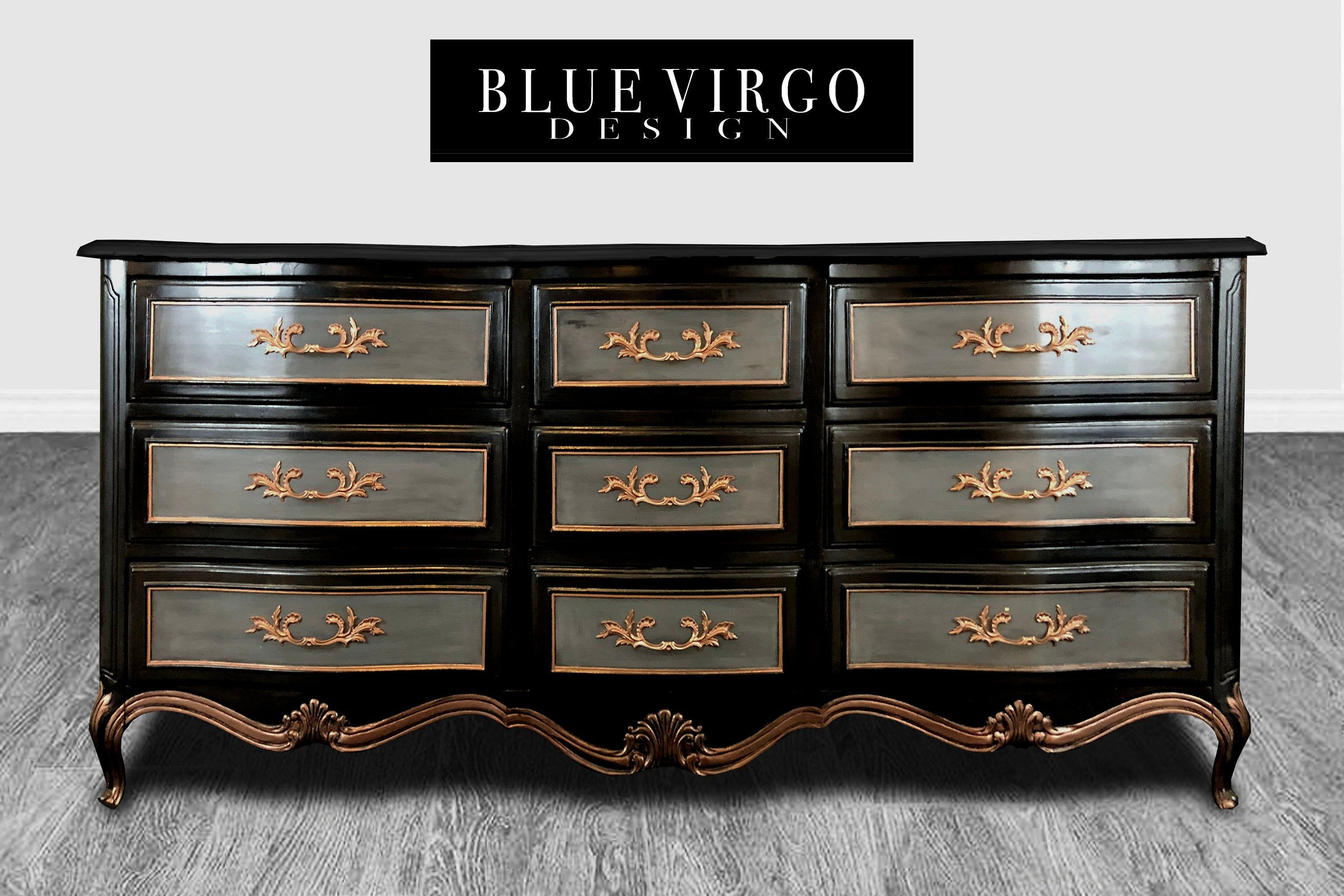 French Country 9 Drawer Black Distressed Dresser Buffet Etsy Black Distressed Dresser Distressed Dresser Distressed [ 2000 x 3000 Pixel ]