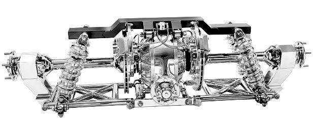 Kugel Komponents, Independent 'Rear' Suspension: (Front View