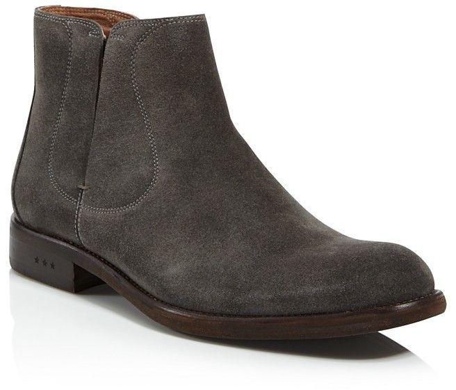 John Varvatos Men's Waverly Covered Suede Chelsea Boots 3ReHN5bxz