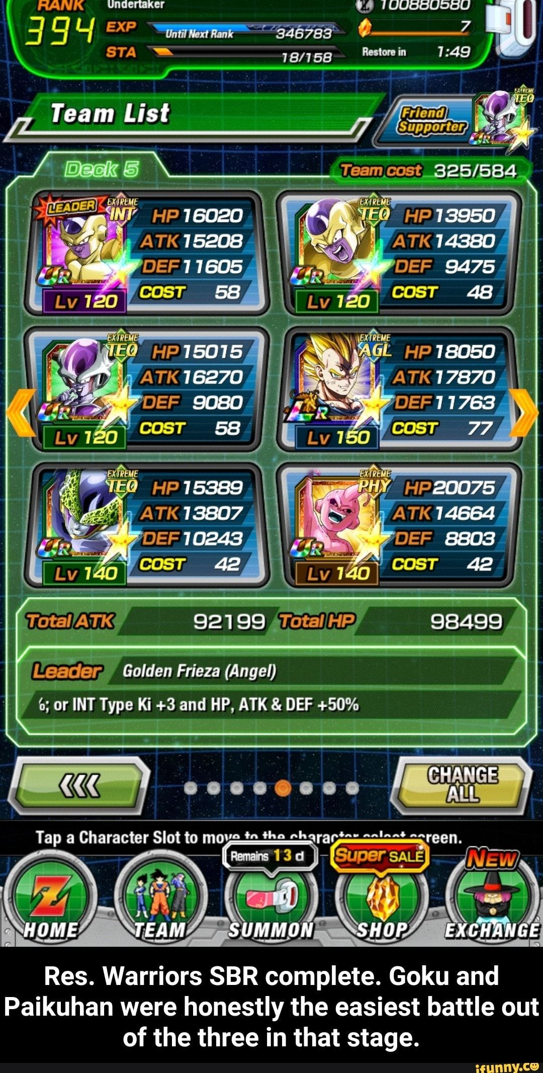 Res Warriors Sbr Complete Goku And Paikuhan Were Honestly The Easiest Battle Out Of The Three In That Stage Ifunny Memes Harry Potter Memes Hilarious Funny Dragon
