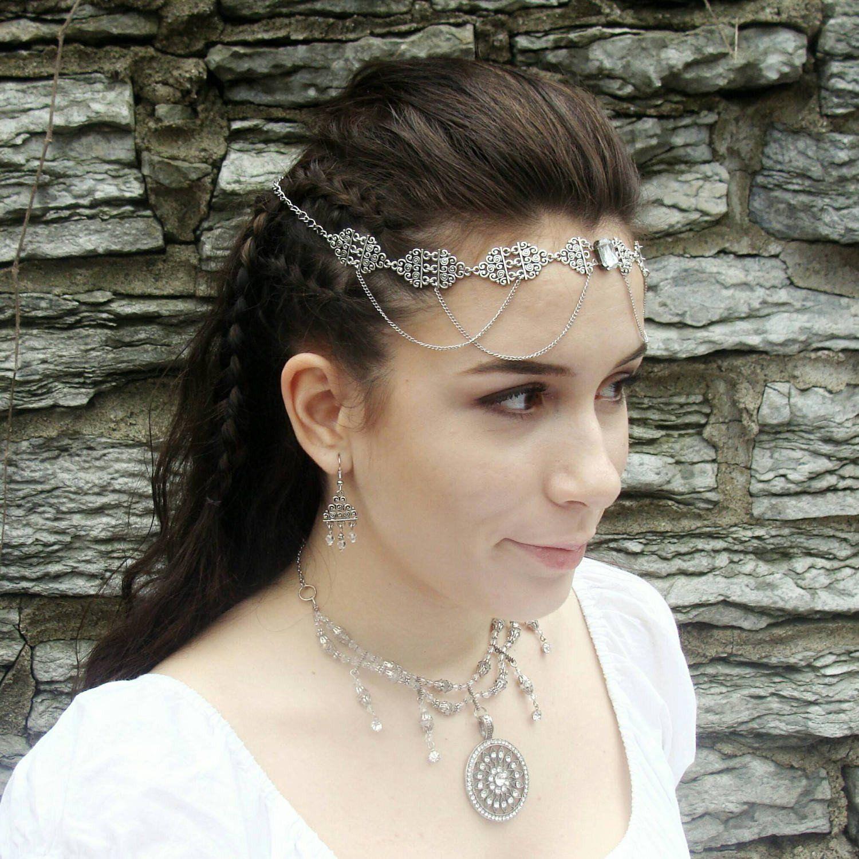 Elven Circlet Tiara Wedding Renaissance Bridal Headpiece Larp Ren Medieval