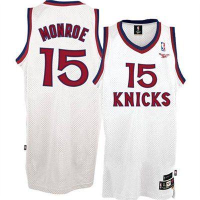 newest 362cd d11a8 Reebok New York Knicks #15 Earl Monroe White Soul Swingman ...