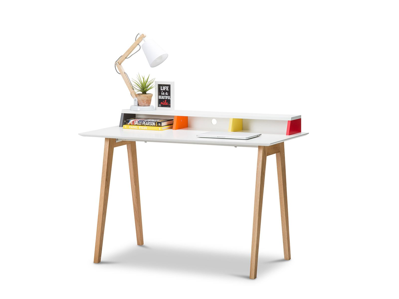 Scandinavian Style Desk aud 339 -- nila scandinavian style multi colour desk | retrojan