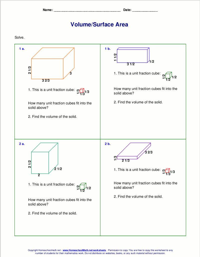 4 Worksheets Volume Of Cubes In 2020 Math Worksheets Free Math Worksheets Math Fact Worksheets