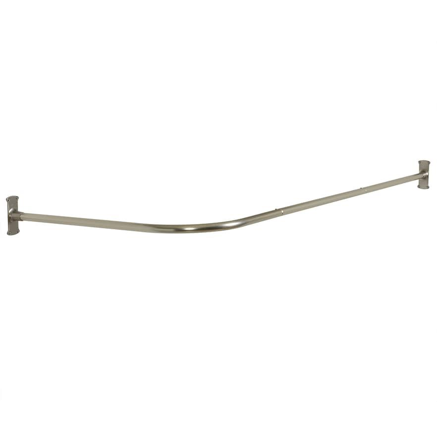 Zenna Home Never Rust L Shaped Corner Shower Curtain Rod Shower