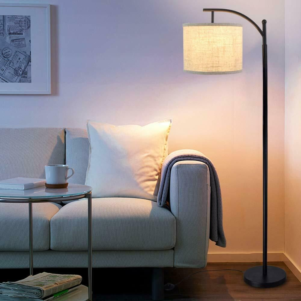 Hanging Lamp Shade Reading Tall Floor Accent Light For Living Room