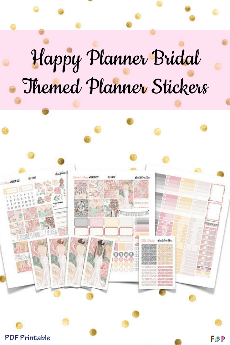 Bridal themed stickers for your Planner! Sooo cute! Or use them with ...