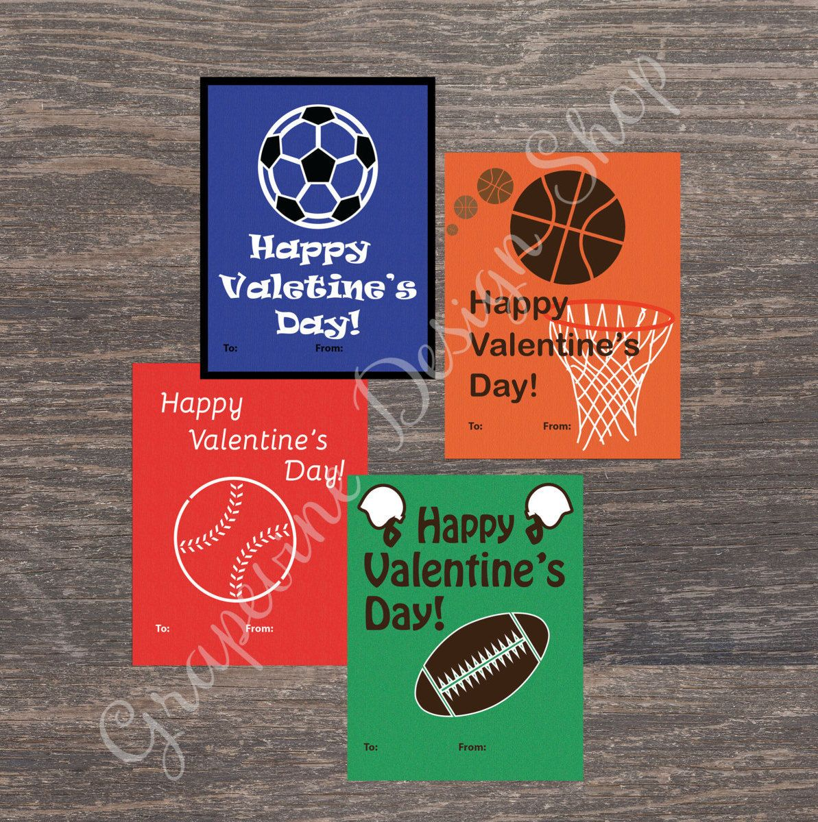 Personalized Sports Valentines Day Cards Soccer Baseball – Sports Valentines Cards