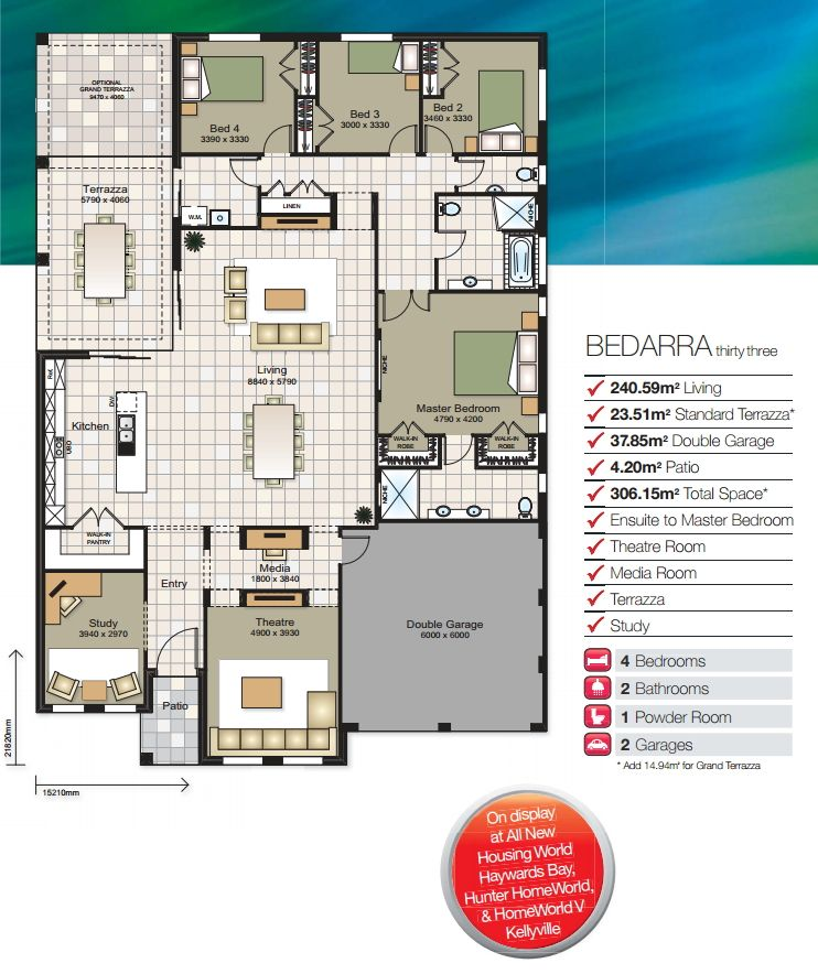 Bedarra floor plan house plans planos de casas for Sims house plans free