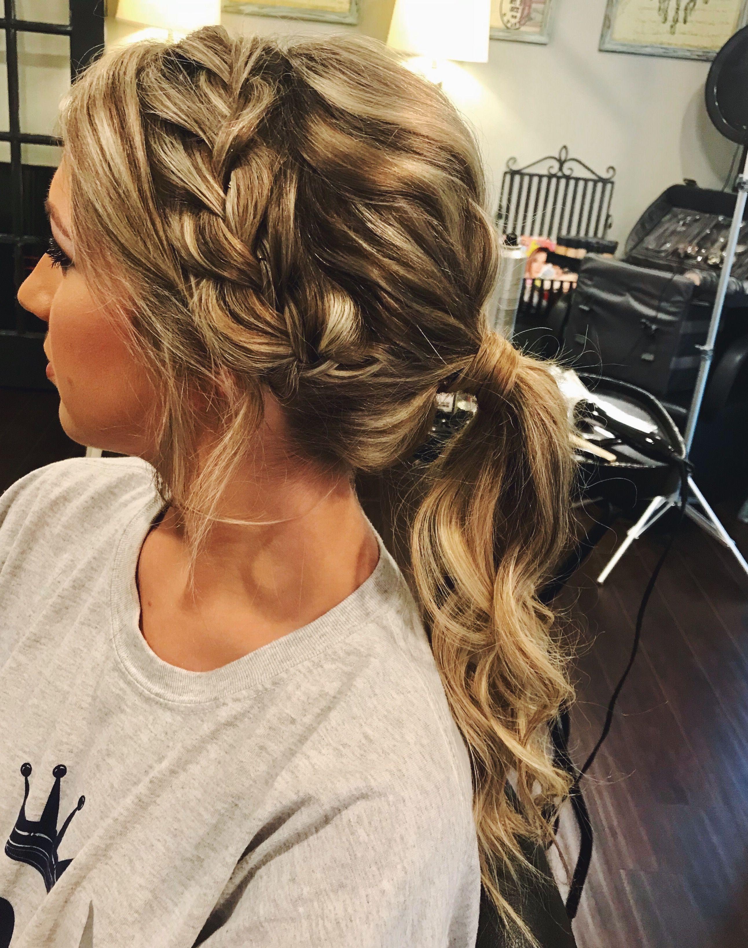 prom hair - ponytail updo braid  Braided prom hair, Prom ponytail