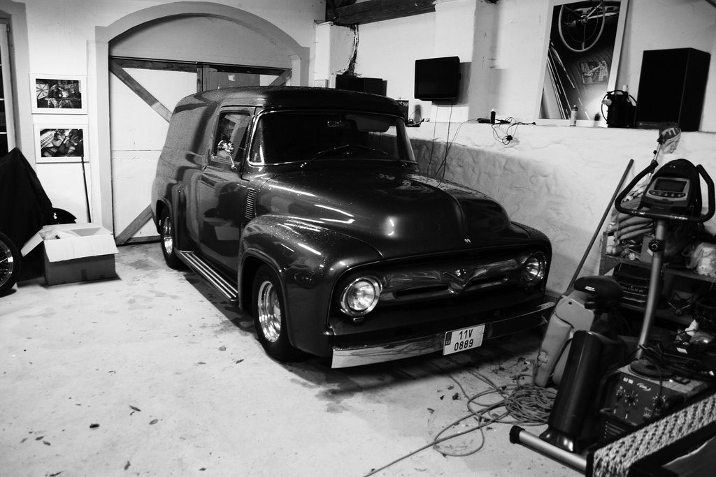 1956 Ford F 100 Panel All Made No Rust 5 7 Liter Chevy V8 3 Speed Auto Transmission All Carpets Leather New Ask 25 0 Work Truck Panel Truck Car Mechanic